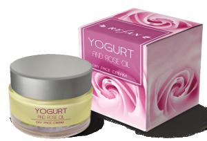 Дневен Крем За Лице Йогурт И Розово Масло с масло от роза Дамасцена ( Rose Damascena)