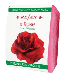 Пилинг Сапун-Гъба с натурална розова вода