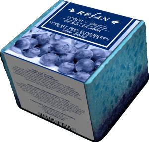 Пилинг сапун - гъба  с екстракт от плодовете на бъз и кисело мляко