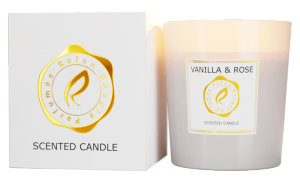 BOUGIE PARFUME SCENTED CANDLE - VANILLA & ROSE