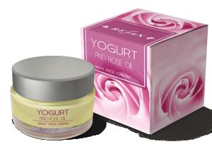 Нощен Крем За Лице Йогурт И Розово Масло с масло от роза Дамасцена ( Rose Damascena)