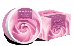 Захарен Ексфолиант За Тяло Йогурт И Розово Масло с масло от роза Дамасцена ( Rose Damascena)