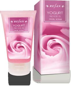 Ексфолиант За Лице Йогурт И Розово Масло с масло от роза Дамасцена ( Rose Damascena)