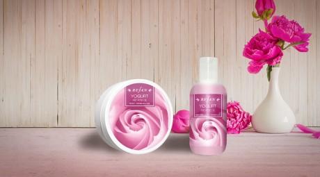 Комплект Yogurt and rose oil + Душ гел подарък